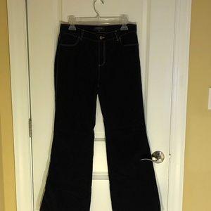 Lafayette148 Lightweight Corduroy Dark Blue Pant